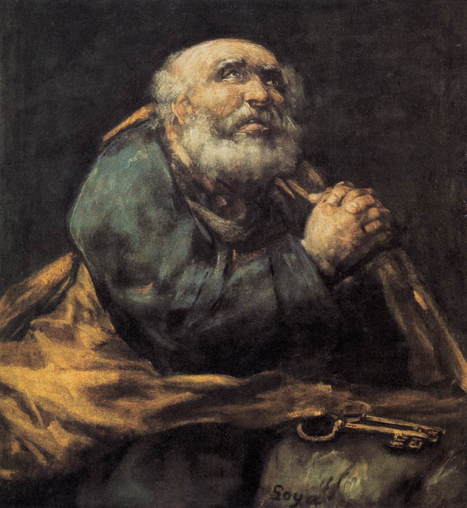 Goya's painting of the repentant Apostle Peter   dans images sacrée 810goya