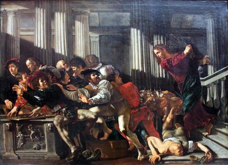 1610_Cecco_del_Caravaggio_Christ_expulses_money_changers_anagoria.JPG