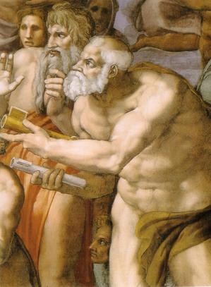 Michelangelo,_giudizio_universale,_dettagli_12_san_pietro.jpg