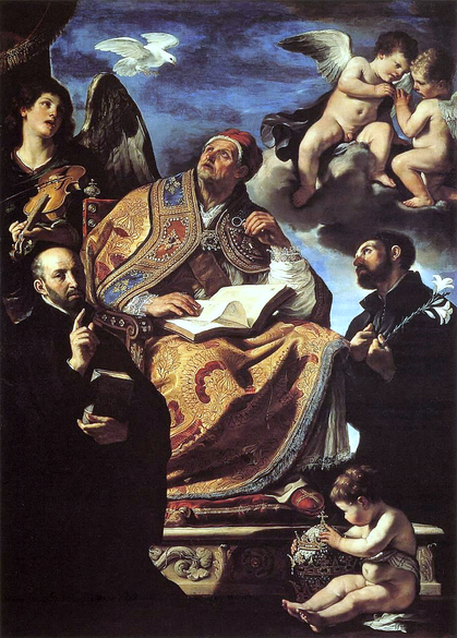 St_Gregory_the_Great_with_Sts_Ignatius_and_Francis_Xavier_by_Guercino,_1626.PNG