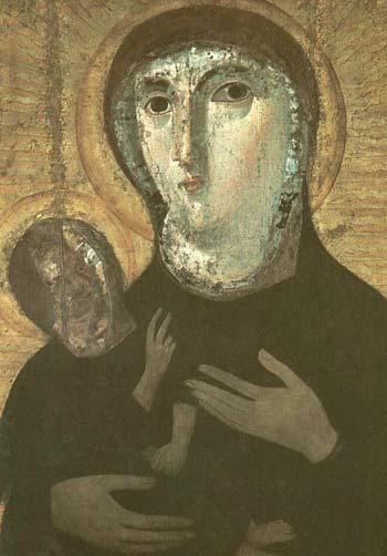 СЕМИОЗЕРНАЯ: CПИСКИ.  Ответить.  БОГОМАТЕРЬ из церкви Санта Мария Антиква Рим.