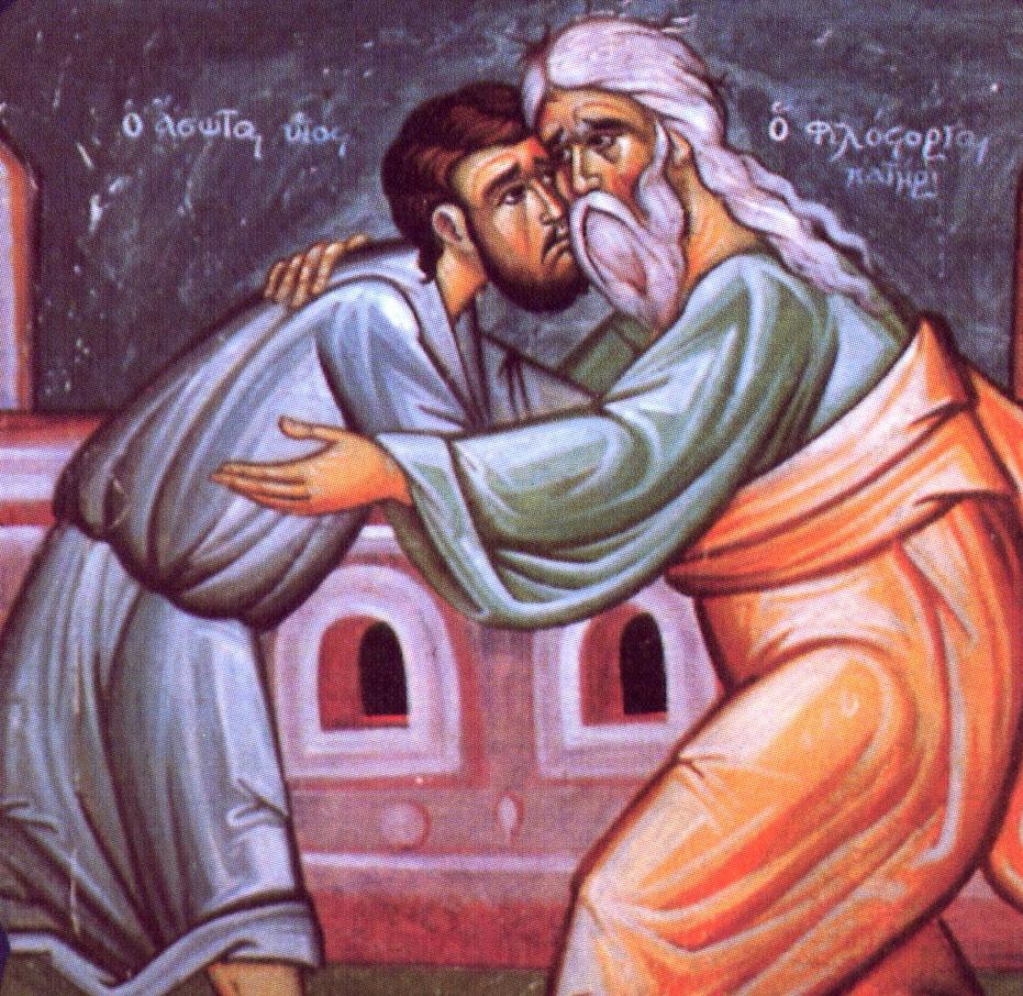 Icon of the Prodigal Son courtesy of Patheos. dans immagini sacre prodigal