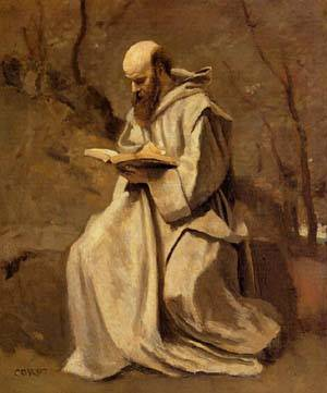 Monk_in_White_Seated_Reading__1857.jpg